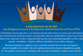 Statement in Support of Students & Families of Color from the Allegheny Intermediate Unit and Allegheny County's 42 Suburban School Districts