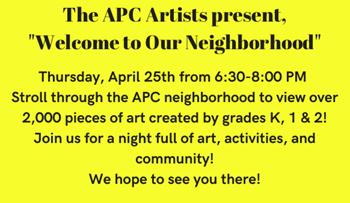 APC Art Show - April 25th