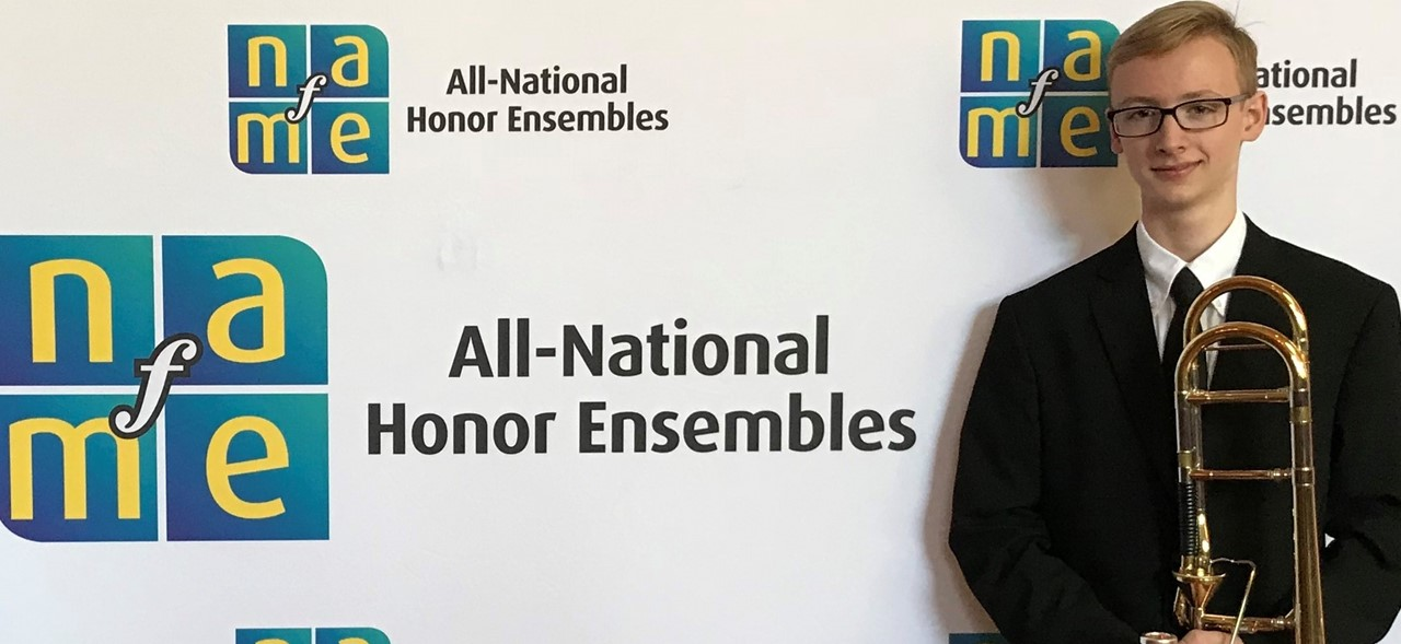 Lukas Helsel Trombone 1 in NAFME All-Eastern Honors Orchestra