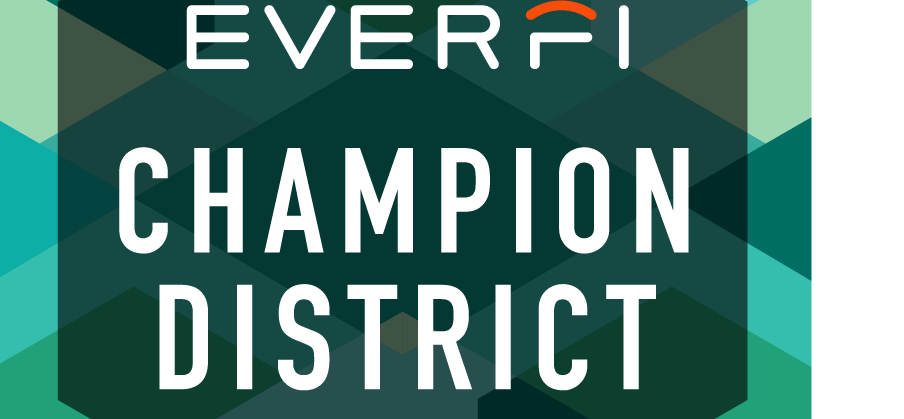 Image of the EVERFI Champion Seal for the District receiving recognition from EVERFI as a Champion for whole child education
