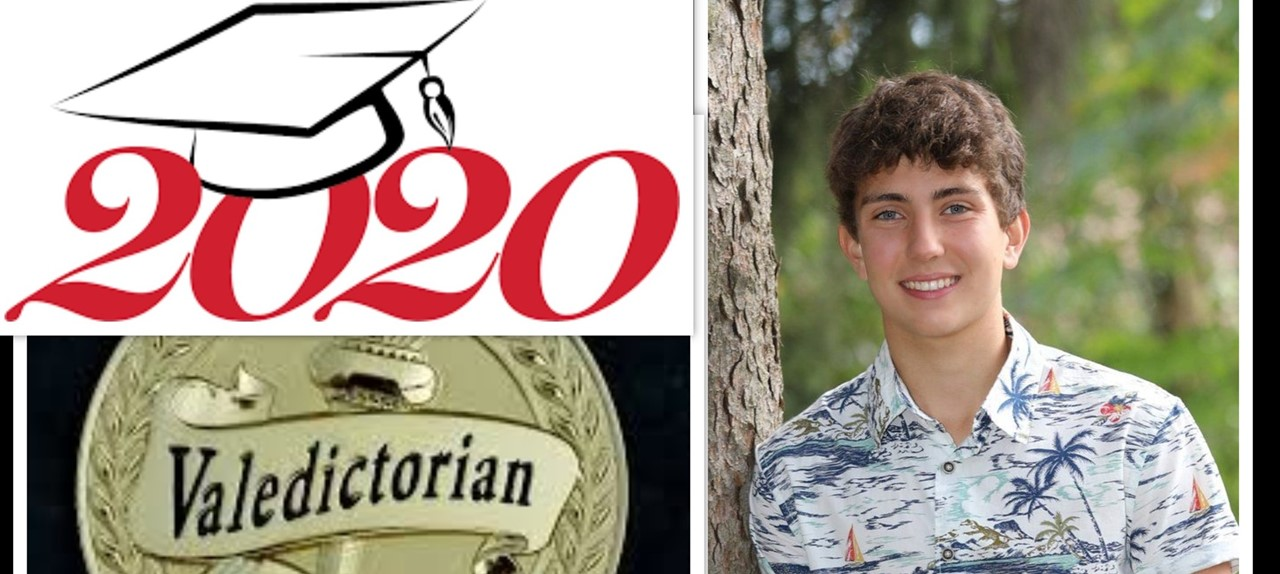 Photo of Darren Hunt, Class of 2020 Valedictorian.  He is leaning up against a tree.
