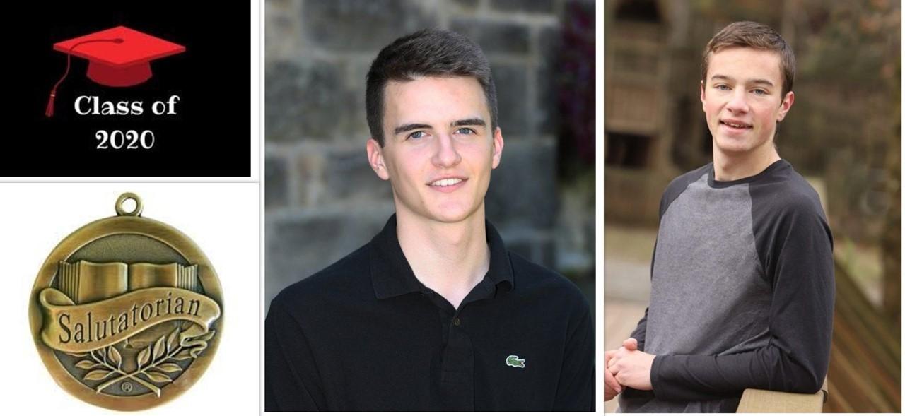 Photos of our tied Salutatorians for 2020, Matthew Springer and Johnathon Nicholaus