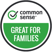 Common Sense Media Image that says Great for Families